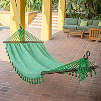 Cotton hammock Take Me to the Forest single Guatemala