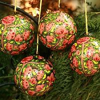 Ornaments, 'Season of Love' (set of 4) - Ornaments (Set of 4)