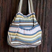Cotton shoulder bag,