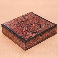 Wood batik box,
