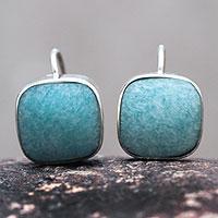 Amazonite drop earrings,