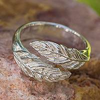 Sterling silver wrap ring, 'Flight' - Handcrafted Sterling Silver Wrap Ring from Mexico