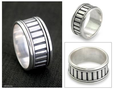 Handcrafted Sterling Silver Meditation Ring
