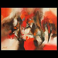 'Vibrant' (2011) - Original Painting Peru Abstract Art Signed (2011)