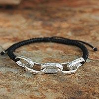 Silver accent bracelet,