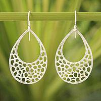 Sterling silver dangle earrings, 'Raindrop Reflection' - Sterling Silver Dangle Earrings