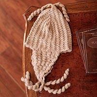 100% alpaca chullo hat, 'Mocha Winter' - 100% alpaca chullo hat
