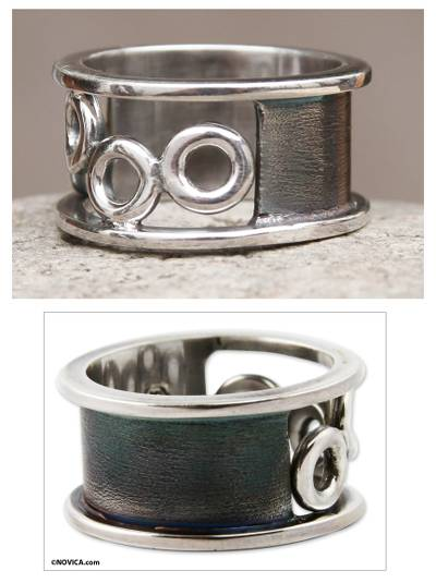 ring and necklace set tv - Sterling Silver Band Ring from Peru Jewelry