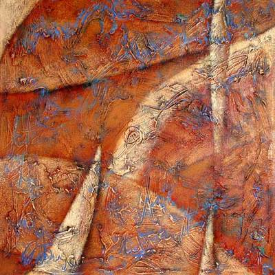 'Waves of Clay' - Modern Abstract Painting from Mexico