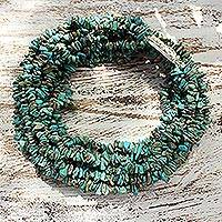 Turquoise torsade necklace, 'Blue Surf' (Thailand)