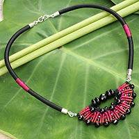 Onyx pendant necklace, 'Star of Nan' (Thailand)