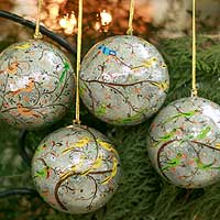 Ornaments, 'Holiday Heralds' (set of 4)