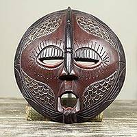 Akan wood mask, 'Peace Talker' - Akan Wood Mask