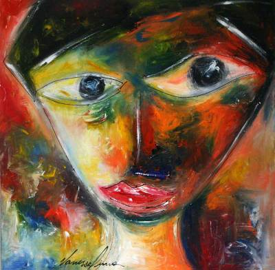 'A Face II' - Fine Art Naif Painting