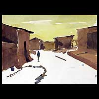 'New Bauchi' - African Architectural Painting