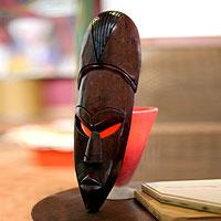 Akan wood mask Ancient Man Ghana