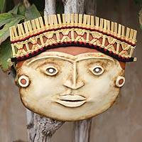 Recycled paper mask, 'Lambayeque Influence' - Recycled Lambayeque Style Paper Mask
