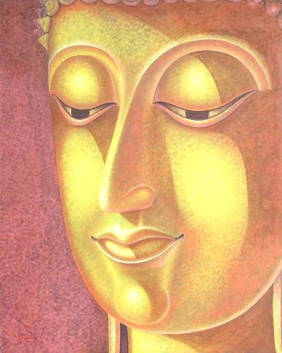 'The Light of Warmth' (2006) - Acrylic Buddha Painting