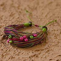Cotton wristband bracelet,