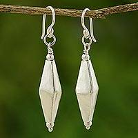 Sterling silver dangle earrings, 'Festive Thai' - Sterling Silver Dangle Earrings