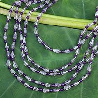 Amethyst strand necklace, 'Romantic Lavender' (Thailand)