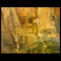 'Water, Wind and Shadow I' (2003) - Abstract Oil Painting from Thailand
