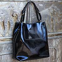 Leather handbag,