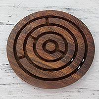 Wood labyrinth,