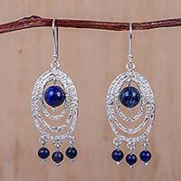 Sodalite chandelier earrings,