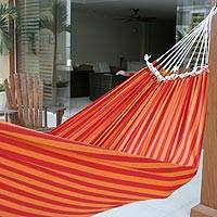 Cotton hammock Amazon Sunrise single Brazil