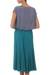 Modal skirt, 'Green Orchid' - Flared Pull On Skirt in Green Modal from Indonesia (image 2b) thumbail