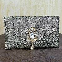Sequined clutch evening bag, 'Maharani' - Sequined clutch evening bag