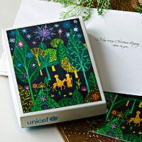 Holiday greeting cards, 'Journey to Bethlehem' (set of 12) - Religious UNICEF Holiday Greeting Cards (Set of 12)