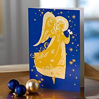 Holiday greeting cards, 'Golden Angel' (set of 12) - Traditional UNICEF Holiday Greeting Cards (set of 12)