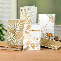 Greeting cards, 'Golden Sentiments' (set of 12) - UNICEF Everyday Customizable Cards Boxed Set