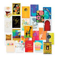 Assorted greeting cards, 'A Card for All Seasons' (set of 24) - UNICEF All Occasion Card Assortment Boxed Set