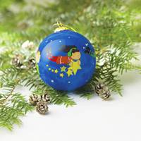 UNICEF Glass Ornament, 'Gift of Friendship' - Artisan Crafted UNICEF Glass Ball Ornament