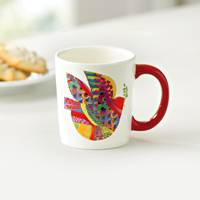 UNICEF Mug, 'Colorful Peace' - Ceramic Bird Mug Perfect for Holidays or Year Round