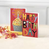 UNICEF Greeting Cards, 'Happy Birthday' (set of 12) - 12 Blank Birthday Greeting Cards from UNICEF Blank Inside
