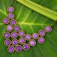 Beaded quartz necklace,
