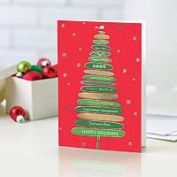 Holiday greeting cards, 'Multi-Language Tree' (set of 12) - UNICEF Holiday Cards Boxed Set