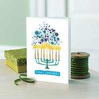 Holiday greeting cards, 'Menorah' (set of 12) - UNICEF Holiday Cards Boxed Set