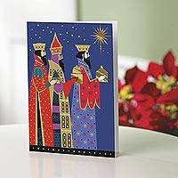 Holiday greeting cards, 'Three Kings' (set of 12) - UNICEF Holiday Cards Boxed Set