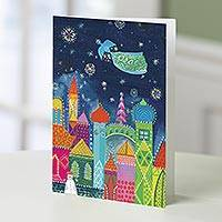 Holiday greeting cards, 'Multi-color City' (set of 20) - UNICEF  Holiday Cards Boxed Set