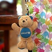 Key clip, 'UNICEF Bear' - Clip Anywhere to Show Your Support for the World's Children