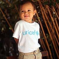 Cotton baby/toddler t-shirt, 'UNICEF' - Let Them Help Spread the Message
