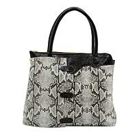 Leather shoulder bag, 'Cobra Lady' - Handcrafted Snake Print Brazilian Leather Shoulder Bag