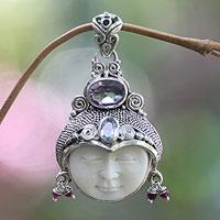 Amethyst and garnet pendant,
