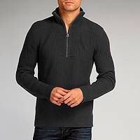 Men's organic cotton sweater, 'Charcoal Elite' - Charcoal Pullover for Men Cotton Tencel Blend Sweater