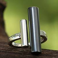 Sterling silver cocktail ring, 'Parallel Lives'